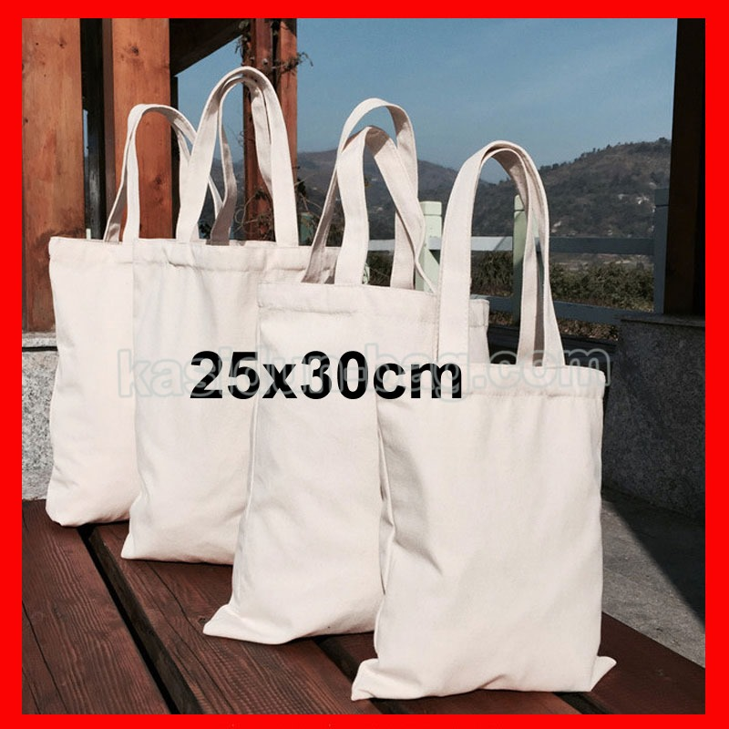 (200 Pieces/Lot) Size 25X30cm Custom Logo Blank Tote Bag Cotton