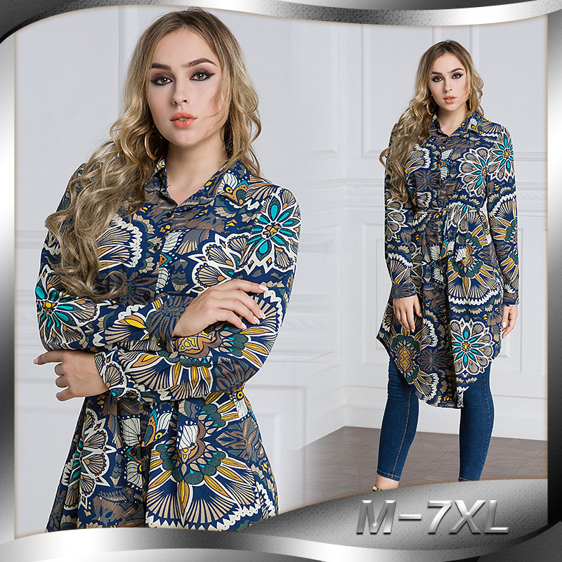 plus size 2018 Spring dubai abaya african boho korean fashion clothing sexy long maxi cardigan womens tops and blouses shirts