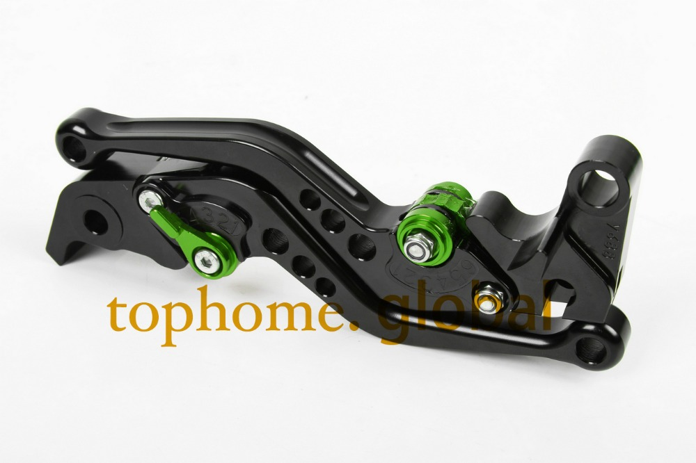 Motorcycle Accessories For Kawasaki ZX9R 1998-1999/ER-5 2004-2005 Short Black Handlebar CNC Clutch Brake Lever Brake Lug grips motorcycle accessories clutch brake lever for kawasaki zx9r zx10r z1000