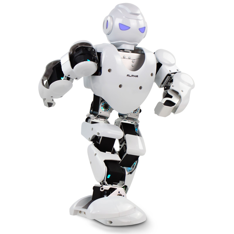 Free shipping Alpha 1s 3D Programmable Humaniod Robot For Intelligent Life Creative RC robot For intelligence development boomerang alpha line 3