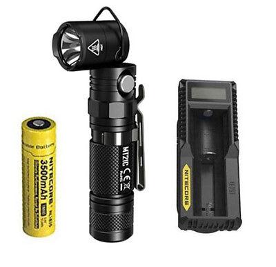 NITECORE MT21C CREE XP-L HD V6 LED 1000 Lumen Multifunctional 90 Degree Adjustable Flashlight fenix hp25r 1000 lumen headlamp rechargeable led flashlight