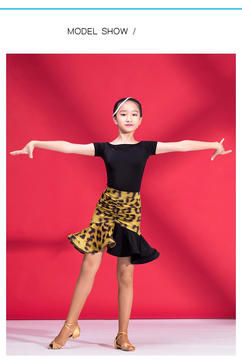 d27893cec Popular Latin Dancing Tops For Girls Black White Rose Color Short ...
