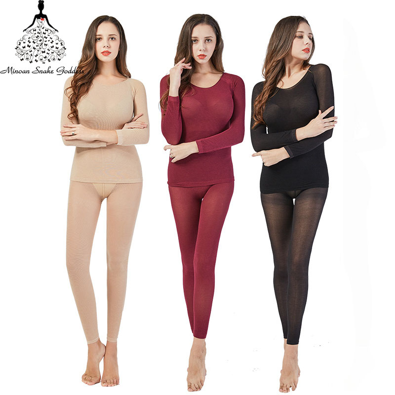 3Pcs lot Thermal Underwear For Women Warm Long Johns Sexy Seamless Winter Thermal Underwear Set Thermos
