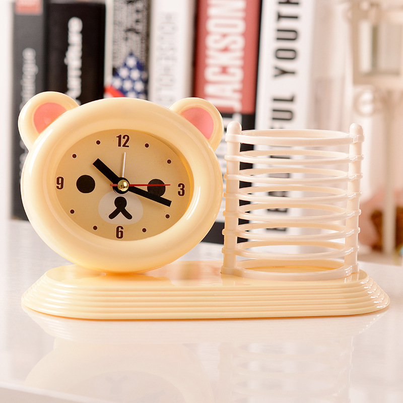 Hot Happy Bear with Pen Case Combination Alarm Clock Children Tool Carto  Animal Figurine Home Office Table Decoration No battery. Bear Office Furniture Reviews   Online Shopping Bear Office