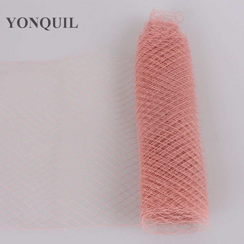 25 см клетка для птиц вуали для вуалеток свадебный аксессуар для волос шляпка для миллинери DIY вечерние головные уборы несколько цветов Новое поступление - Цвет: peach
