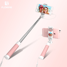FLOVEME Mini Selfie Stick with Button Wired Handle Extensible Monopod Universal For iPhone 7 6 5
