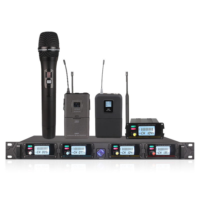 Wireless Microphone System UHF Channel 8000GT Professional Mobile Microphone Transmitter Accessories (sold Separately)