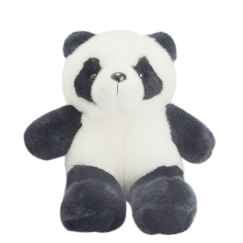 2017 Hot Cute 25CM Stuffed Animal Panda Bear Plush Doll Toy Birthday Valentine Christmas Gift For Girl Boy birthday Gift  YH-17 1pc 12cm kawaii lover couple valentine s day gift novelty mascot doll toy plush papa bear panda pendant for mobile phone charm
