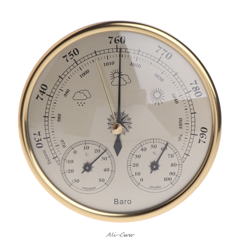Wall Mounted Household Barometer Thermometer Hygrometer Weather Station Hanging