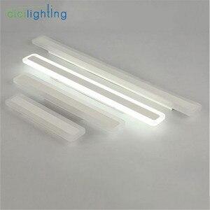 Image 2 - 110/240V L40cm 50cm 60cm 70cm מודרני עיצוב אמנות אקריליק אמבטיה מראה אור ארוך יהירות איפור קיר מנורת חלבי אסלה תאורה