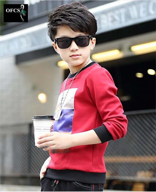 Nova marca Meninos camiseta Roupa Dos Miúdos Patchwork Impressão 100% Algodão marca Meninos Camiseta Crianças Meninos Roupas T Tops 5-12 Anos de Idade