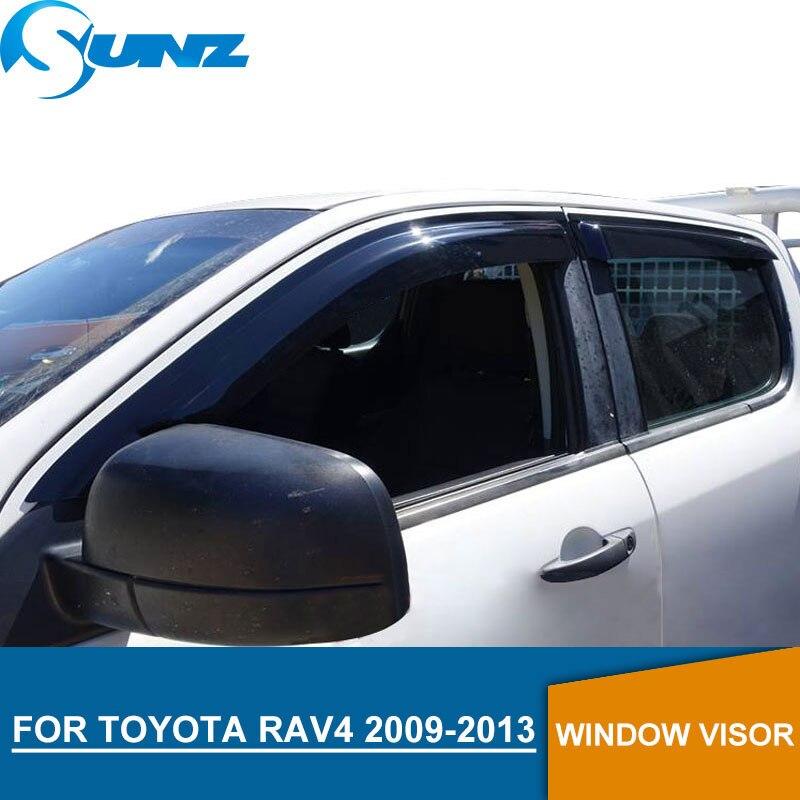 Pour Toyota rav4 2009-2013 Fenêtre Visière déflecteur Garde De Pluie pour Toyota rav4 2009 2010 2011 2012 2013 SUNZ