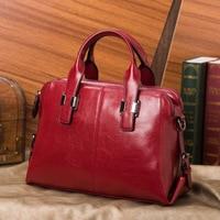 Real Cow Leather Ladies HandBags High Quality Women Genuine Leather Bag Totes Messenger Bags Designer Luxury Shoulder Bag Female