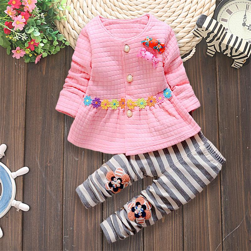 Children Clothing Sets Cotton Baby Clothes Long Sleeve T-Shirt + Pants 2Pcs girl Clothing Sets Spring Child Clothes 1 2 3 year free shipping cheap high quality 1pc lot long sleeve baby girl boys children child 100% cotton t shirt candy color base shirt