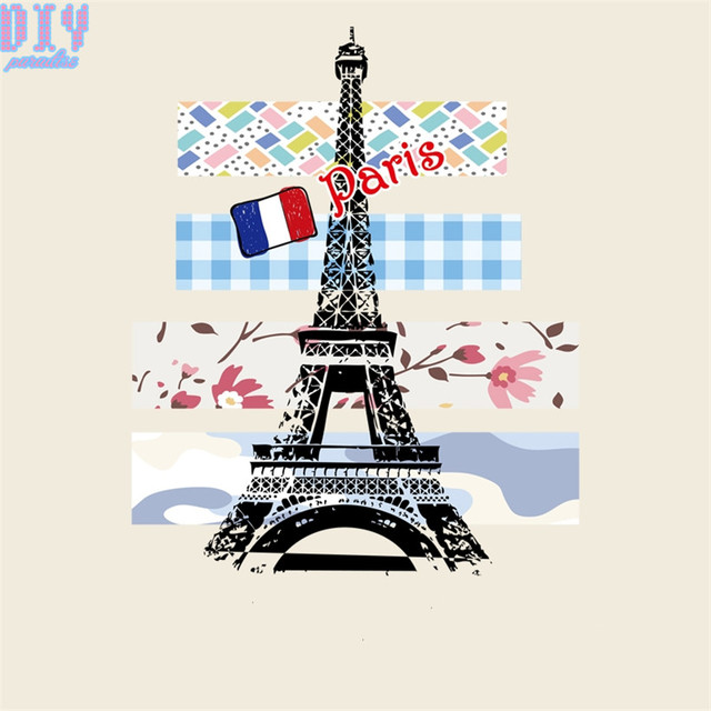 10pcs Paris Eiffel Tower Iron On Patches For Clothing Diy Craft Heat