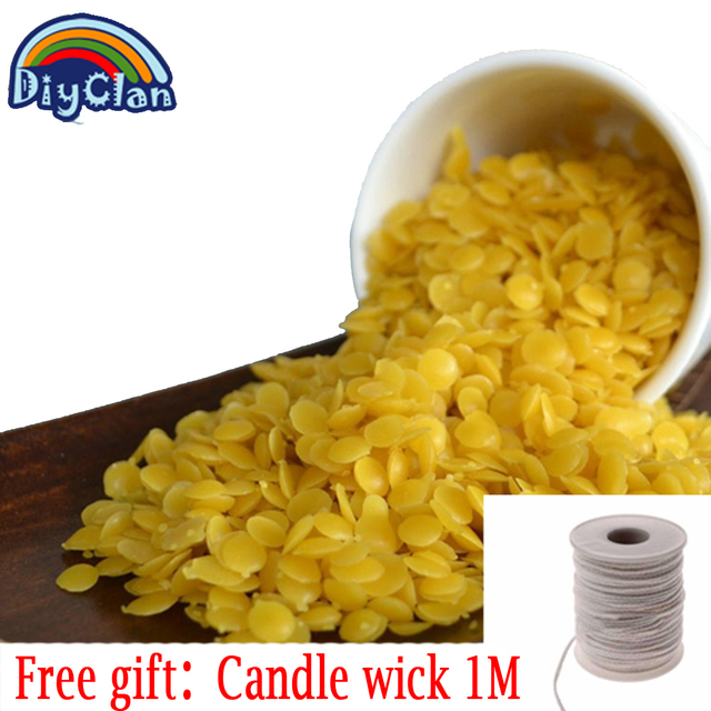50g/pack Pure Natural Beeswax Candle Making Supplies 25g yellow and white bee wax Materials for Handmade Soap Making
