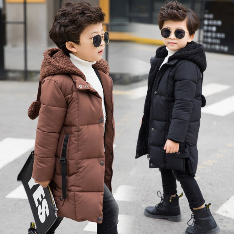 2018 Winter Fashion Girls Thicken Cotton-padded Jacket Thicken Coat Warm Christmas Clothes Girls Children Warm Long Jackets Tops уличный подвесной светильник maytoni rua augusta s103 67 42 r