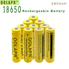 10pc  a lot 18650 3.7V 6000mAh Rechargeable Battery li-ion - Free shipping