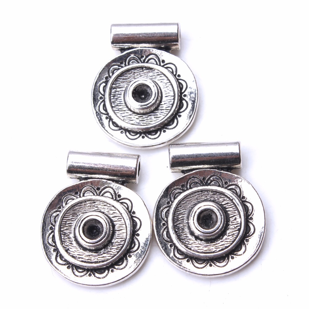 10pcs/lot 27*22mm Vintage Flower Embossing Charms Antique Silver Color Necklaces & Pendants DIY Jewelry Components Making