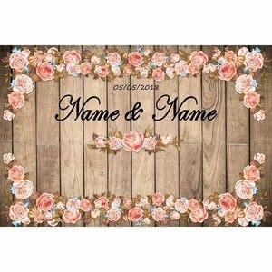 Image 3 - Allenjoy photography backdrop vintage wedding photocall wood flowers custom backdrop photo background studio photozone vinyl