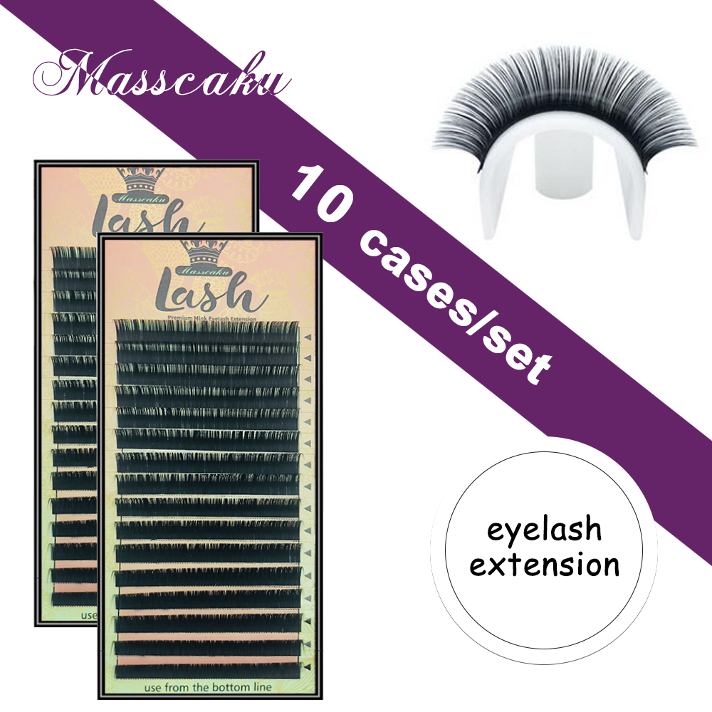 10 cases lot new High quality eyelash extension mink eyelashes extension Natural eyelashes false eyelashes maquiagem