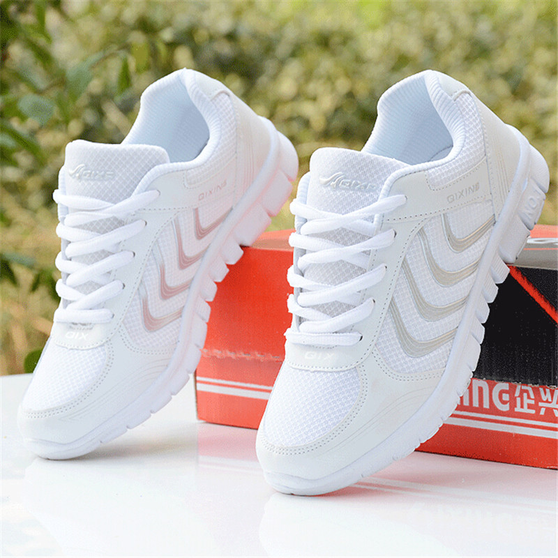 Hot 2017 Women Sneakers Breathable Sport Shoes Female Running Shoes Light  Sneakers For Women Shoes 35 43 Shoes 35 42 Euro-in Running Shoes from Sports  ...