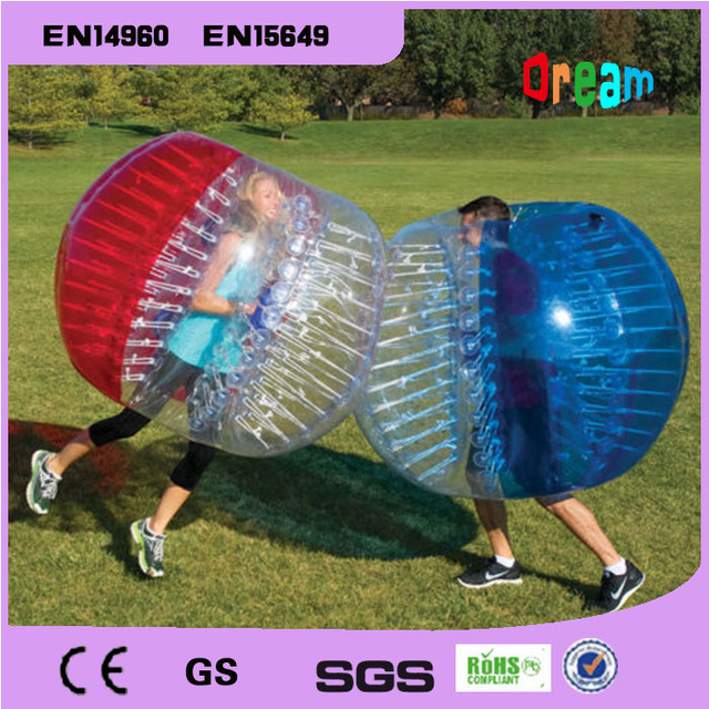 Outdoor Sports Dia 1.5m PVC Inflatable Bubble Soccer Football Ball Zorb Ball Inflatable Human Hamster Ball Bumper Ball