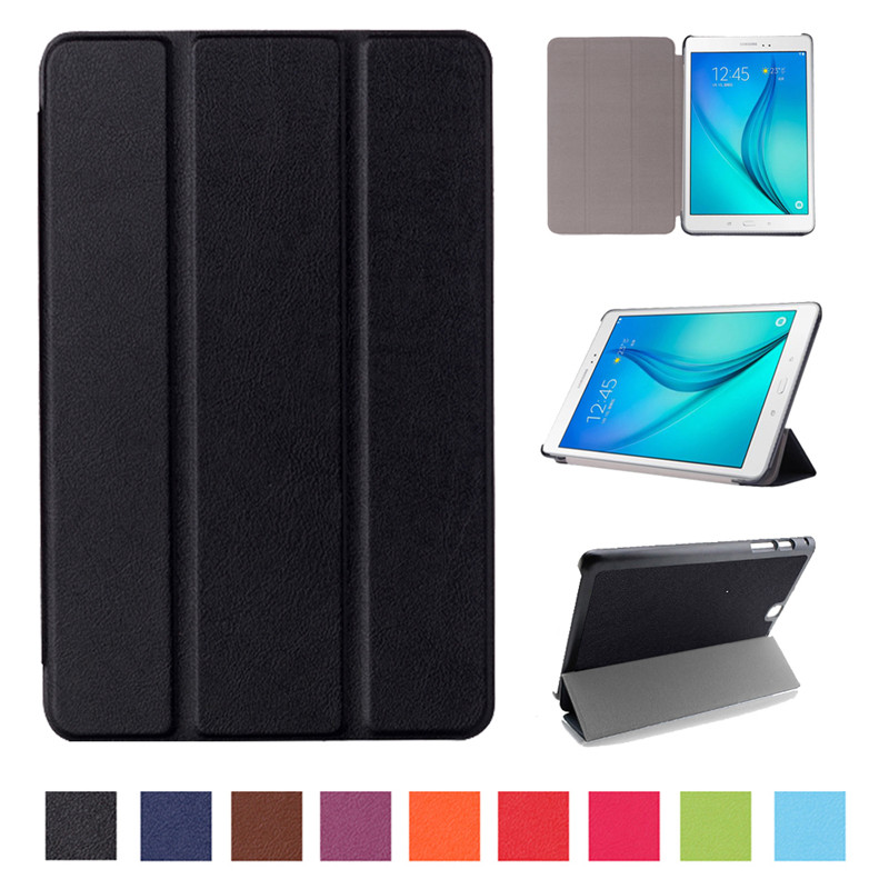2017 New Solid PU Leather Case For Samsung Galaxy Tab A 9.7 T550 T555 SM-T550 Tablet Folding Stand Protective Slim Cover
