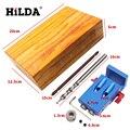 HILDA Bolsillo Agujero Plantilla Kit Sistema Para Trabajar la Madera y carpintería + Step Drill Bit & Accesorios Herramienta de Trabajo De Madera conjunto