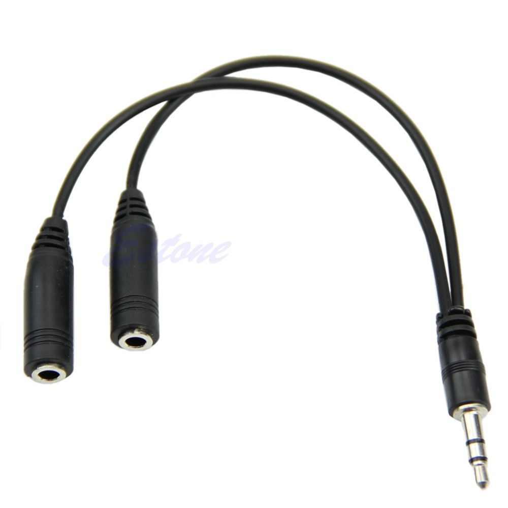 3,5 мм штекер 2 двойной женский разъем Jack аудио стерео гарнитура микрофонный сплиттер кабель