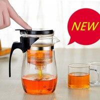 耐熱ガラスティーポットハンドグリップ付き茶カップ現代のファッション