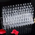 New 64 Tips Pop Sticks Nail Art Tips Nail Display Stand Nail Practice Training Tool Removable Rack + Display Plate