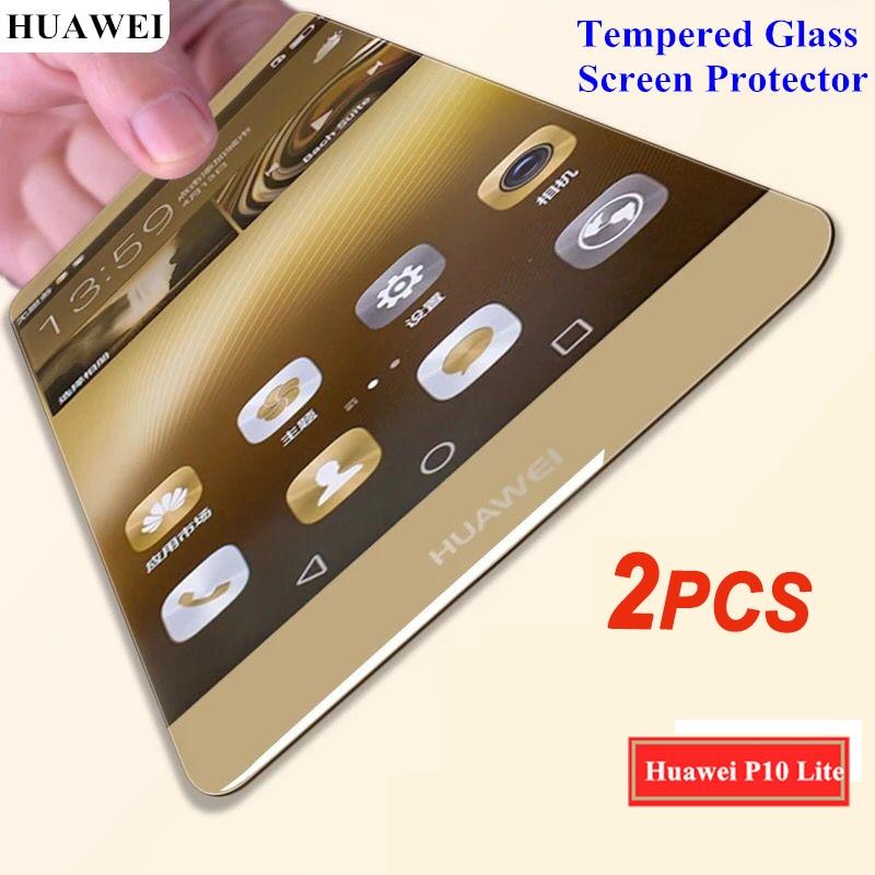 2PCS For Huawei <font><b>P10</b></font> <font><b>Lite</b></font> Tempered Glass For Huawei <font><b>P10</b></font> P 10 <font><b>Lite</b></font> 2.5D Premium Screen Protector Toughened Glass Film <font><b>Case</b></font> Cover