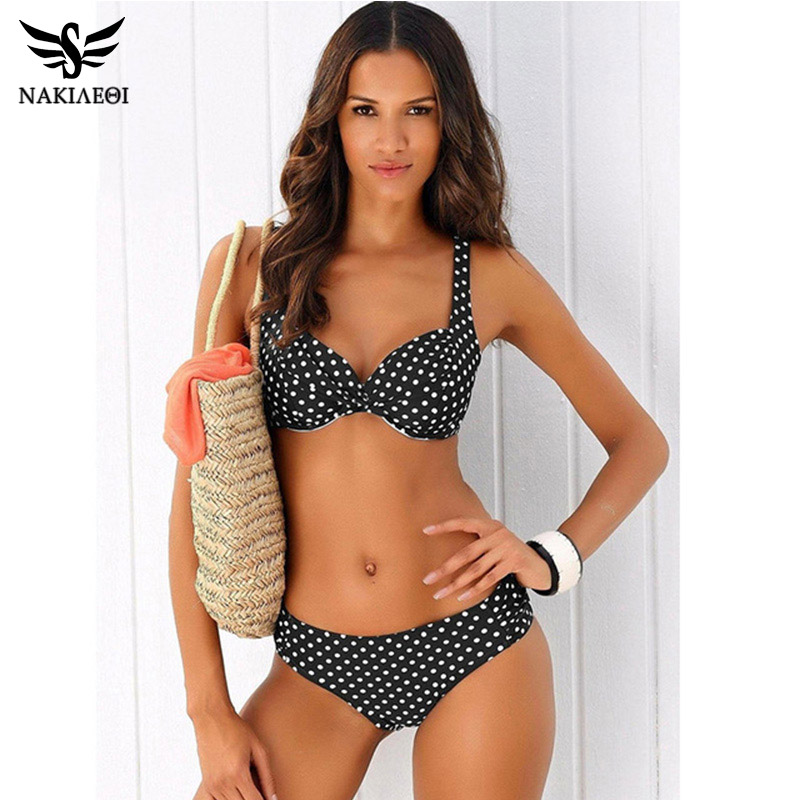 a993bb4ee4c7 Nakiaoi Sexy Push Up Bikini brasileño traje de baño mujeres traje de baño  2019 nuevo vendaje sólido playa traje de baño ropa de baño natación S ...