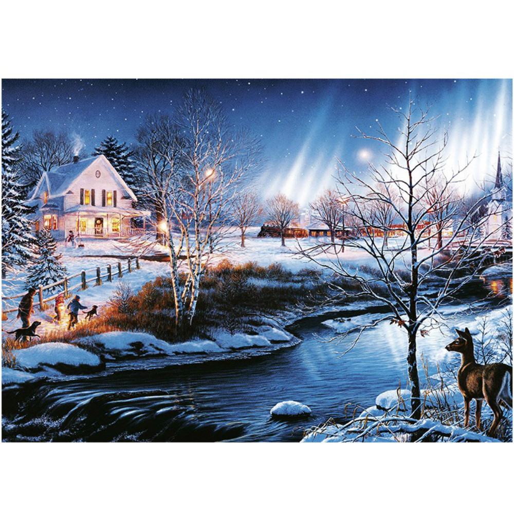 Jigsaw Puzzle 1000 Pieces Snow Night Diy Assembled Puzzles Membran Assy Rx King Upgrade Yz 125 Educational Toys New Year Gift For Children Adult