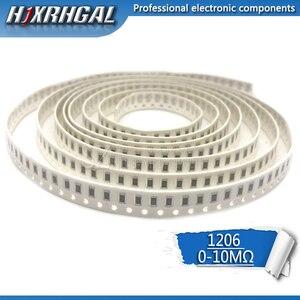 100Pcs 1206 SMD resistor 0R ~ 10M 1/2W 0 1 10 100 150 220 330 ohm 1K 2.2K 10K 100K 0R 1R 10R 100R 150R 220R 330R hjxrhgal