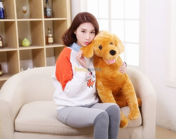 Fancytrader 37\'\' 95cm Lovely Soft Cute Plush Giant Emulational Brown Dog Toy, Free Shipping FT50191(12)