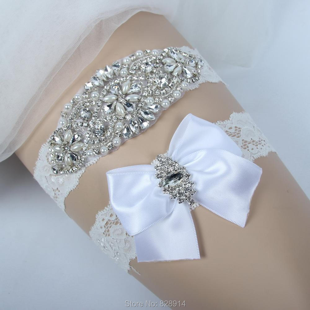 Crystal Wedding Garter: Lowosaiwor Factory Crystal Applique Wedding Garter Set