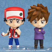 Dowin 10cm Nendoroid #612 Figure Toy Ash Ketchum Gary Oak Mew cute  Mini Model Doll for collection gift