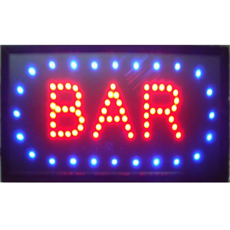 Cadre de PVC de magasin de bière de barre de Pub de CHEN XI LED avec une chaîne en métal pour la barre de bière de Pub buvant l'affichage ouvert de LED d'affaires 48*25 cm d'intérieur