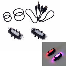 New Portable LED USB Rechargeable Cycling Light Bike Bicycle Tail Rear Safety Warning Light(China)