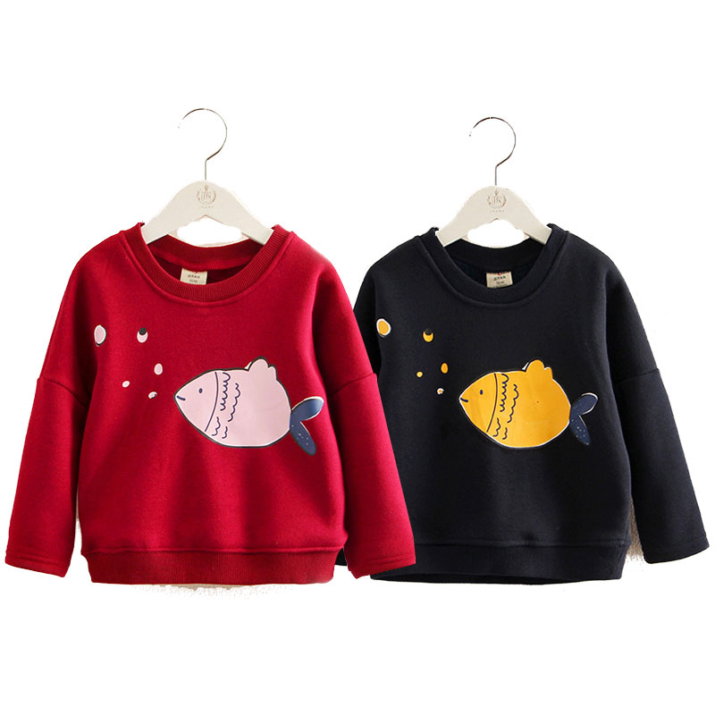 V-TREE Children Sweatshirts Winter Thick T-shirt For Toddler Children Casual Sweater Kids Plus Velvet Tops Costume Girls Shirts