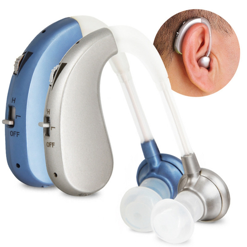 Mini Hearing Aid Rechargeable Digital Hearing Aids Sound Amplifiers Wireless Ear Aids for Elderly Moderate to Severe Loss