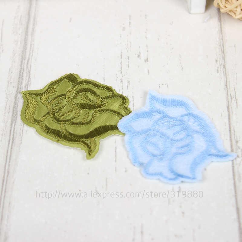 TIANXINYUE патч 10 шт. розы термонаклейки DIY вышитые аппликации пришить наклейки для одежды сумки фрукты мотив