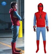 MANLUYUNXIAO Spiderman Homecoming Cosplay Costume Men Full Set Halloween Spiderman Costume For Men Custom Made цена 2017