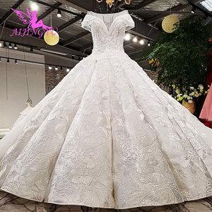 Image 2 - AIJINGYU Plus Size Wedding Dresses With Royal Ball White Boho Modests engagement Classy Gowns Wedding Dress Czech Republic