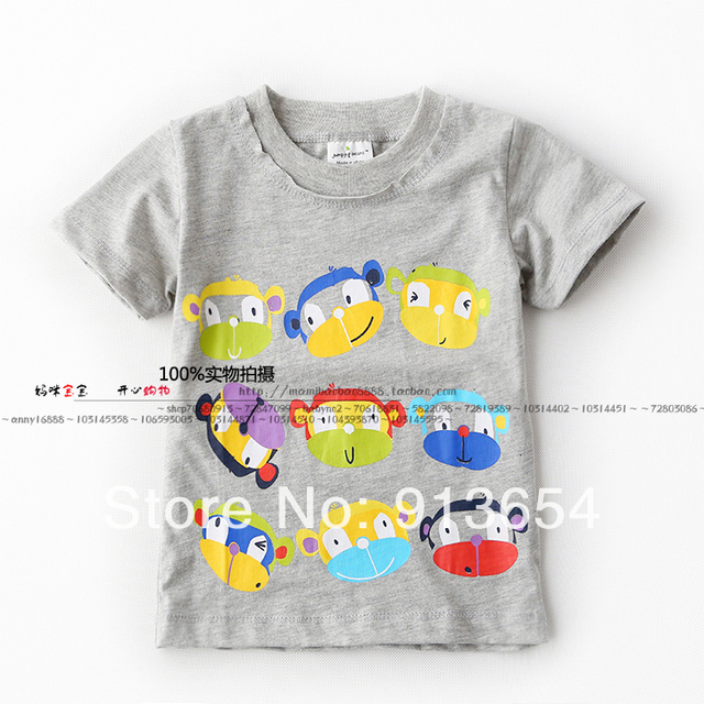 new 2014 Summer boys clothes children t shirts baby boy short-sleeve tee shirt kid cute cartoon T-shirts child pullover