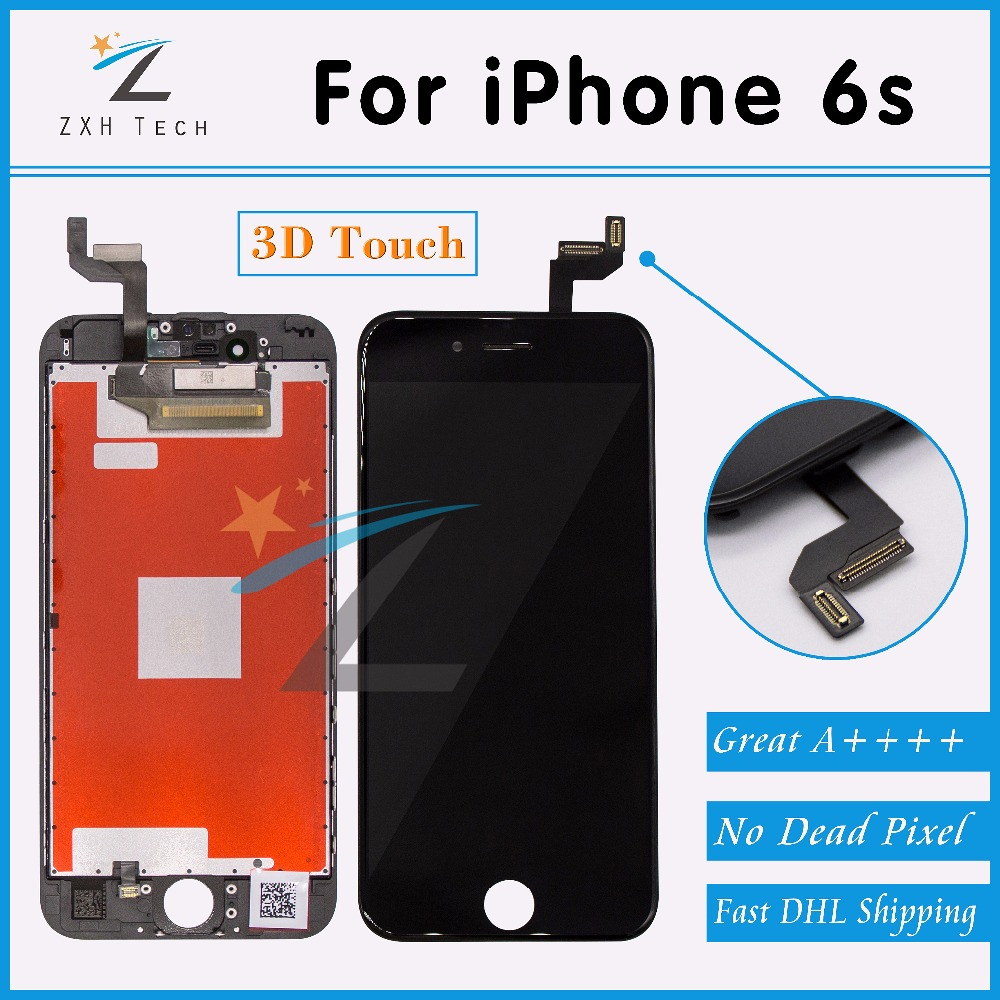 5PCS LOT Alibaba China Free DHL 100 No Dead Pixel for iPhone 6s LCD Display With