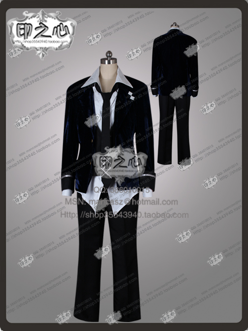 Game Anime DIABOLIK LOVERS MORE,BLOOD Mukami Ruki Hallowmas Uniform Suit Party Clothing Cosplay Costume Any Size NEW