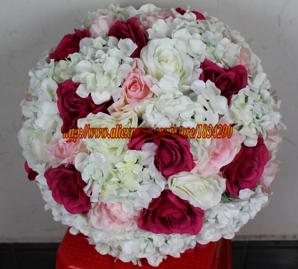 55cm 2pcslot Artificial Silk Rose Hydrangea Wedding Decoration